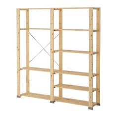 HEJNE 2 sections IKEA You can easily expand your combination if you need more storage by adding on sections and shelves.