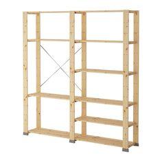 HEJNE 2 secciones IKEA De madera maciza sin tratar, un material natural muy duradero y resistente que puedes cuidar aplicando aceite o cera.