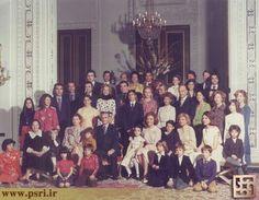 عکس دسته جمعی از خاندان پهلوی