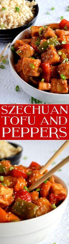 Szechuan Tofu and Peppers