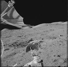 Apollo 17 Hasselblad image from film magazine 136/H - EVA-1