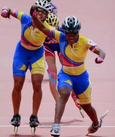 Yersi Puello (derecha) y Paola Segura (Izquierda). Inline Skating, Skate, Running, Colombia, Sports, Pictures, Roller Blading, Keep Running, Why I Run