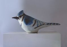 Stoneware BlueJay Sculpture by Andersen Design of Maine