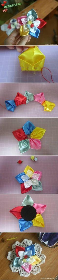 DIY-Cute-Modular-Ribbon-Flower