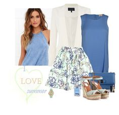 """""""I ❤ Summer!"""" by katiethomas-2 ❤ liked on Polyvore featuring Billabong, Armani Jeans, Michael Kors, Alice + Olivia, Salvatore Ferragamo, Valentino, Gucci and Versace"""
