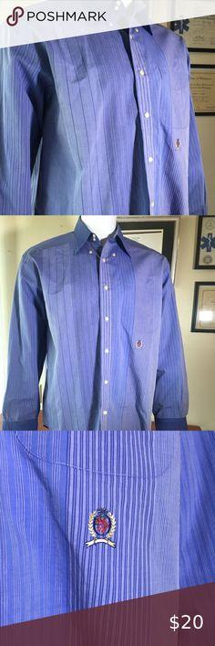 Kennington  Button Down Men/'s Dress Shirts Floral-Geometric Blue XL or 2XL NWOT