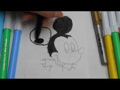 Coloring Mickey Mouse & connect the dots