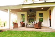 indoor outdoor fireplace double sided | The Hampton | Fowler Home + Design