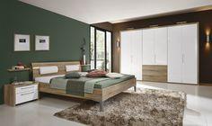 Schlafzimmer Salaga Noce •• Ausführung Alpina HG, Eiche Macao HNB, Griff S2 Kombi: 9461. #Schlafzimmer #Bett #Möbel #Home    www.muellerland.de/sortiment/produkt/schlafzimmer-40/