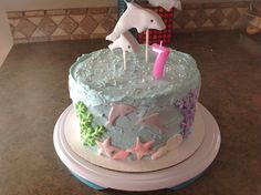 Dolphin Cake; Under the Sea; dolphin Tale--Winter & Hope.
