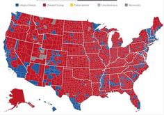 Looks like the majority of the country didn't want Hillary. Mostly urban areas and a few border areas.  Time to move on  We always need to be vigilant because the bad guys are still our there.