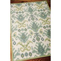Nourison Vista Ikat Ivory Rug | Overstock.com Shopping - Great Deals on Nourison 7x9 - 10x14 Rugs