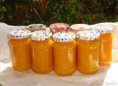 Dżem dyniowo-jabłkowy z dodatkiem soku pomarańczowego. Peach Jam, Marmalade, Preserves, Salsa, Mason Jars, Food And Drink, Appetizers, Yummy Food, Lunch