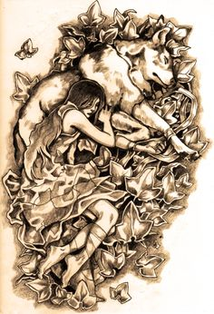 Wolf and Girl by ~Tokala on deviantART (My spirit animal is a wolf so this is so beautiful and i would probably get this as a tattoo)