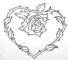 Here are some free printable rose coloring pages for your child. This coloring sheet will help your kids develop some important skills such as hand-eye coordination, color concepts, understanding images and numbers. Rose Coloring Pages, Skull Coloring Pages, Printable Adult Coloring Pages, Coloring Pages To Print, Coloring Books, Hearts And Roses, Heart Tattoo Designs, Tattoo Outline, Body Art Tattoos