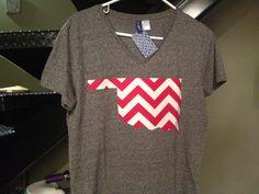 OU Oklahoma Chevron Game day Tshirt by GameDayTees on Etsy. , via Etsy.