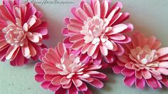 Pink Paper Flowers - Daisy Punch ~ My Memory Verses