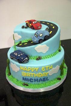 tortas con pistas de autos - Buscar con Google
