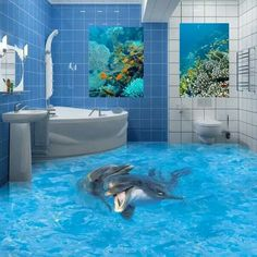 Awesome and cool bathroom floors