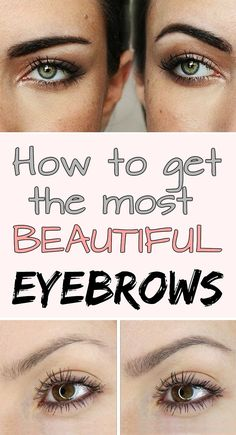 How to get the most beautiful eyebrows – Healthy Beauty Guide Beauty Guide, Beauty Secrets, Beauty Hacks, Beauty Make Up, Beauty Care, Hair Beauty, Healthy Beauty, Health And Beauty, Upper Lip Hair
