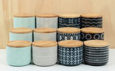 KITCHEN & DINING: Ceramic Aria canisters by Habitat101