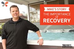 Caldera #spa owner, Mike, shares how his #hottub helps his muscles recover after a #workout.