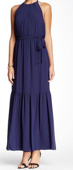 Elegant navy blue - jessica simpson maxi-dress