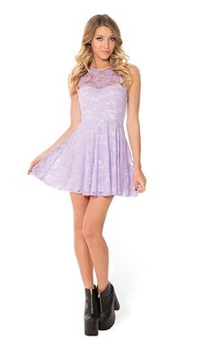 BLACK MILK LILAC LACE SKATER DRESS #blackmilk #dress