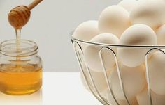 Eggs and honey for hair