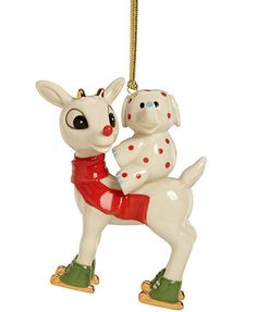 Lenox Christmas Ornament, Rudolph's Merry Misfit