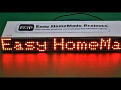 How to Make a SCROLLING TEXT Display at Home - YouTube