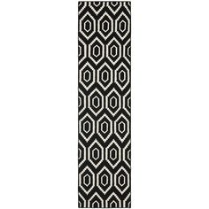 Safavieh Dhurries Collection DHU556L Hand Woven Black and Ivory Premium Wool Runner (2'6' x 6') -- Read more reviews of the product by visiting the link on the image. (This is an affiliate link) #AreaRugsRunnersandPads