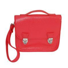 Tout petit sac en coton enduit rouge de Miniséri