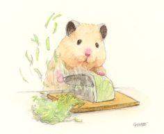 Funny Animal Memes, Cute Funny Animals, Cute Animal Drawings, Cute Drawings, Japanese Hamster, Rainy Day Drawing, Die Dinos Baby, Hamster Life, Funny Hamsters