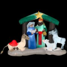 LIGHTED 6 FT CHRISTMAS NATIVITY INFLATABLE YARD DECOR NEW