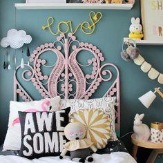#kidsroom #kids #interior HELLO DIY - rope type love http://www.fourcheekymonkeys.com #interiors#bedroom#barnrum#kinder#inredning