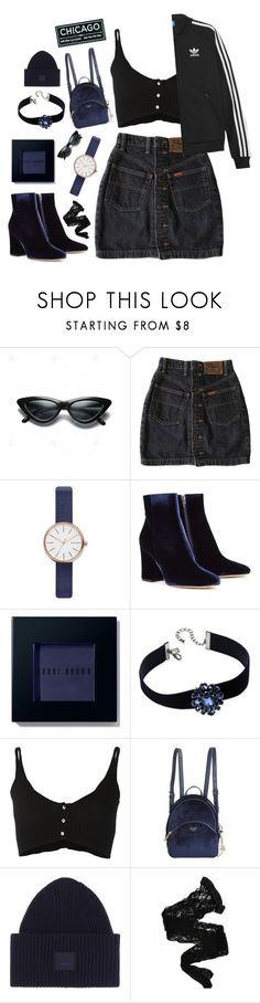 """Chicago"" by mode-222 ❤ liked on Polyvore featuring Skagen, Gianvito Rossi, Bobbi Brown Cosmetics, INC International Concepts, Forte Forte, GUESS, adidas Originals, Acne Studios and Wolford"