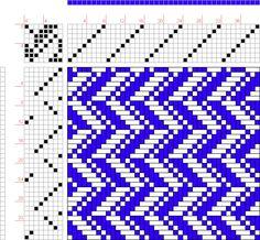 draft image: 8 schäftig mit 12 Karten 24, Lehr-Methode der Weberei, Ferdinand A. Langewald, 8S, 8T