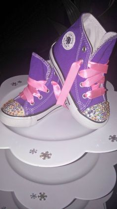 Disney Frozen Inspired Custom High Top Converse Chuck Taylor Crystallized with 100% Swarovski Crystal Rhinestone Infant/Toddler Sizes 2-10 by ExclusivelyUrs on Etsy