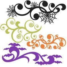 Halloween Flourish Set SVG scrapbook title SVG cutting files crow svg cut file…