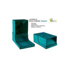 Torre de Dados Verde  Torres de dados de Bandua perfecto para nuestros juegos de mesa. Con un nuevo diseño para transportar y guardar de forma más fácil. Creado en alta calidad y prepintado, elige tu color preferido.
