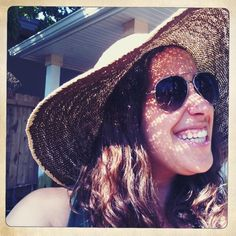 Sunny Self Portrait: Day 5 of 30 Days of Creativity; me in my sunhat before some morning gardening. By @Elyse Gibson