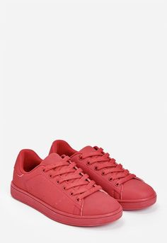 Keep things casual and cool with these fresh kicks. The faux leather and minimal…