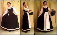 Black Italian 1580s Dress by MorganDonner, via Flickr