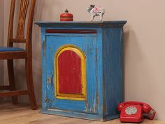 We are in love with the colours on this Blue Vintage Wooden Cabinet. Take a look here https://www.scaramangashop.co.uk/item/403/108/For-The-Home/Blue-Vintage-Wooden-Cabinet.html