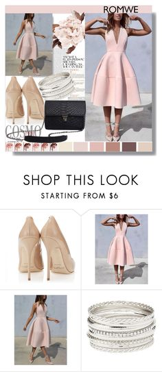 """PastelRomwe"" by mila96h ❤ liked on Polyvore featuring Charlotte Russe and romwe"