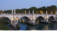 Ponte Sant'Angelo ~ dates from 125CE.