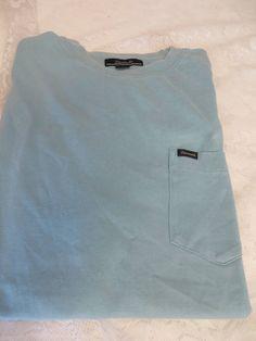 FACONNABLE TEE SHIRT One Pocket LARGE Light Blue  #FACONNABLE #TEE