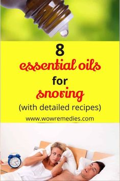 Do you or your spouse snore at night? Check out these best essential oils for snoring and get your much needed sleep back.