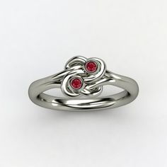 gemstone knot ring - could use as mother's ring for twins...